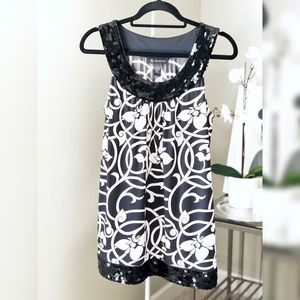 INC International Concepts Black and White Tunic